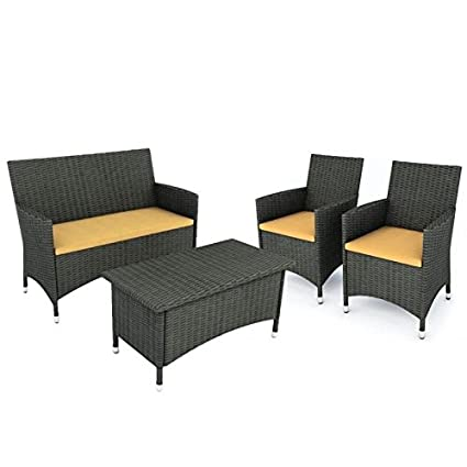 Prime Amazon Com Home Square 4 Piece Patio Sofa Set With Lamtechconsult Wood Chair Design Ideas Lamtechconsultcom