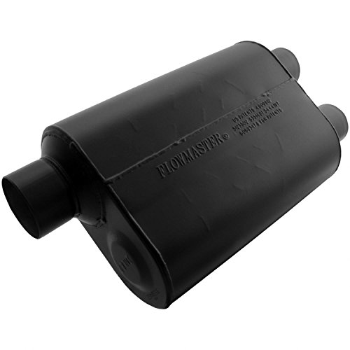 Flowmaster 9530462 Super 40 Muffler - 3.00 Offset IN / 2.50 Dual OUT - Aggressive Sound ()