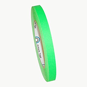 x 60 yds. Pro Tapes Pro-Artist-Neon Fluorescent Console Tape Green 1 in