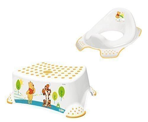 Disney Winnie Pooh wei/ß 2er Set WC Aufsatz Hocker Toilettentrainer