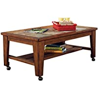 Ashley Furniture Signature Design - Toscana Coffee Table - Modern Styling - Rustic Brown