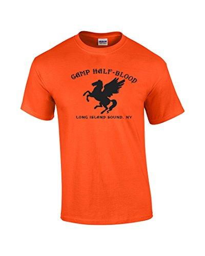 (Youth Camp Half-Blood T-Shirt-Orange-XL)