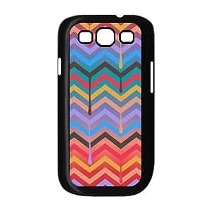 zig zag pattern aztec red purple blue black Samsung Galaxy S3 Case Black