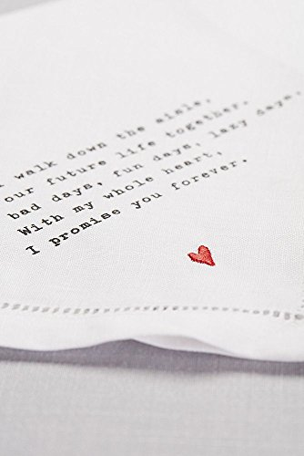 Groom Love Note Handkerchief Style 98110004, White by David's Bridal (Image #3)