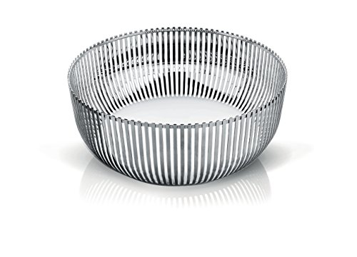 Alessi Fruit Bowl in 18/10 Stainless Steel Mirror Polished, Silver by Alessi