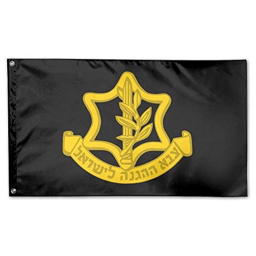 UDSNIS IDF ISRAELI DEFENSE FORCE Logo Garden Flag 3 X 5 Flag For Yard Decorative Banner Black -