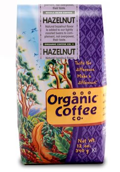 The Organic Coffee Company, Hazelnut - 12 oz. Whole Bean