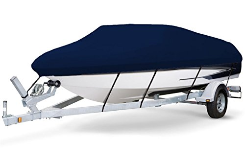 - 7oz Solution Dyed Polyester, Styled to FIT Boat Cover for Angled TRANSOM Bass Boat 19'6