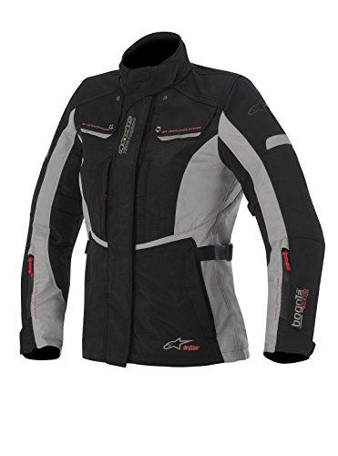 Alpinestars Stella Bogota Drystar Womens Jacket, Primary Color: Black, Size: Lg, Apparel Material: Textile, Distinct Name: Black/Gray, Gender: Womens 3217015-102-L