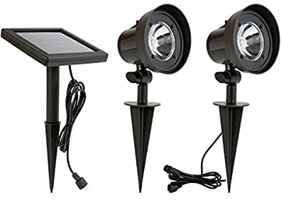Ecoforce Solar Light System Weatherproof Outdoor Landscape Lighting Spotlight Auto On/Off for Yard Garden Driveway Pathway Pool