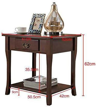 Comodino da Tavolo Quadrato CTGAB tavolino Comodino in Legno massello Soggiorno con Angolo per riporre i cassetti