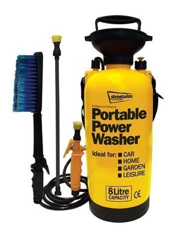 8Ltr Portable Power Jet Washer Caravan Conservatory Boat Quad Motor Bike Cleaner Street Rhino