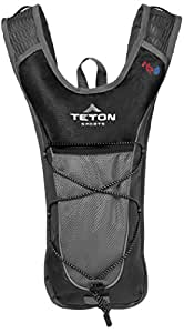 TETON Sports TrailRunner 2.0 Hydration Pack; Backpack for Hiking, Running and Cycling; Free 2-Liter Hydration Bladder; Black