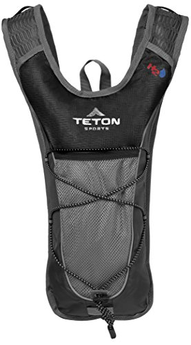 Teton Sports Trailrunner 2 Liter Hydration Backpack; Perfect for Trail Running, Cycling, Hiking, and Climbing; BPA Free; 2L Water Bladder Keeps You Cool When You're Outdoors; Black