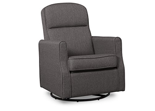 (Delta Children Blair  Nursery Glider Swivel Rocker Chair, Charcoal )