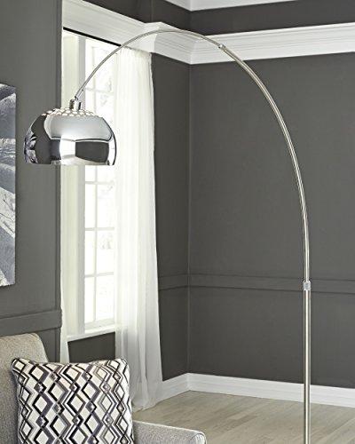Ashley Furniture Signature Design - Osasco Arc Lamp - Floor Lamp - Silver
