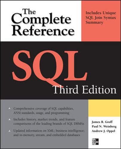 SQL: The Complete Reference, 3rd