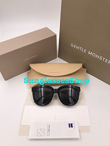 Gentle Monster Acetate Sunglasses Absente Black Frame Black Lenses With Origianl Package - Gentle Sunglasses Monster