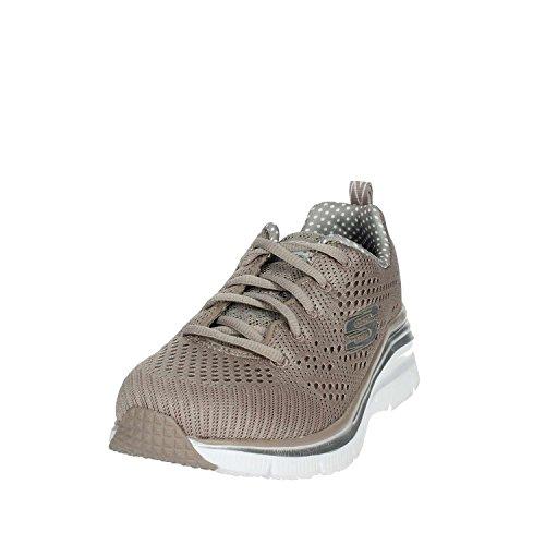 Braun Skechers Damen Sneakers TPE 12704 Niedrige Taupe XCqwUOZ