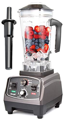 Back Basics Pitcher To (MengK Smoothie Blenders Professional Blenders Heavy Duty 1400W High Speed Blender for Shakes and Smoothies with Timer 64oz Jar BPA-Free Pitcher for Food, Vegetables and Frozen Fruits (HS200))