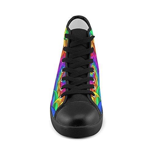 Artsadd Psicodélico Rainbow Spiral High Top Zapatos De Lona Para Hombres (model002)
