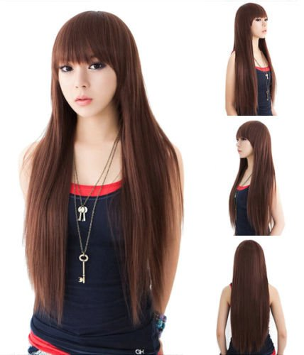 MONOTELE-Womens-Fashion-Premium-Quality-Full-Length-Long-Straight-Wavy-Hair-Anime-Cosplay-Party-Wigs