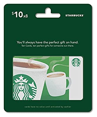 Starbucks Gift Cards, Multipack of 8