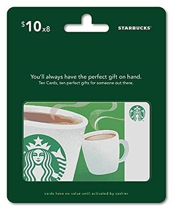 Amazon.com: Starbucks Gift Cards, Multipack of 8 - $10