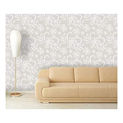 Large Wall Mural - Lace Style Seamless Pattern | Self-Adhesive Vinyl Wallpaper/Removable Modern Decorating Wall Art - 66
