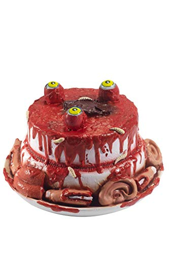 Smiffys 46934 Latex Gory Gourmet Zombie Cake Prop, Red, One Size