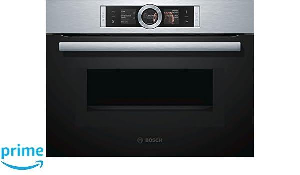 Bosch serie 8 - Horno compacto con microondas cmg6764b1 inoxidable ...