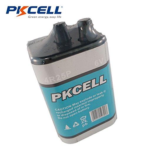 Pkcell 4R25 Heavy Duty 6V Lantern Battery,1 Counts