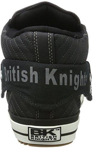 Nero Knights Alto Roco Collo Uomo Nero a British Sneaker f8dUqxSwUa