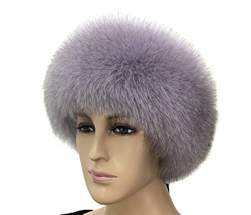 HIMA 100% Real Fox Fur Headband (Lavender) by Hima