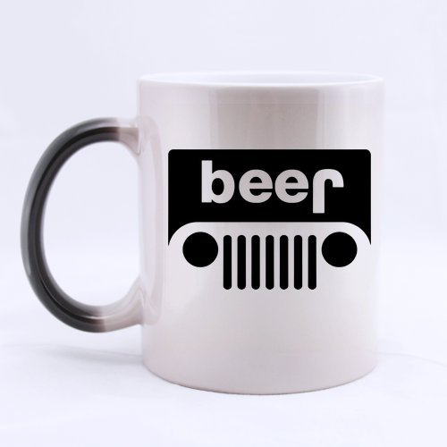 Ceramic Beer Jeep Morphing Mug