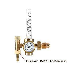 CO-Z Argon CO2 Mig Tig Flow Meter Welding Weld Regulator Gauge CGA-580 Gas Welder by CO-Z