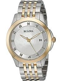 Women's Quartz Stainless Steel Dress Watch, Color:Two Tone (Model: 98P161)