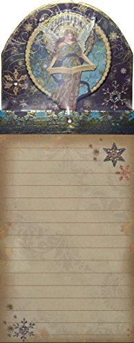 Punch Studio Gold Foil Gem Embellished Magnetic List Pad, Celestial Sparkle lue Angel 66567 (Angels Notepad)