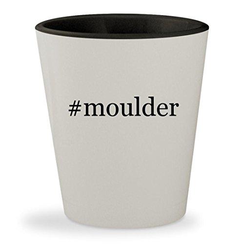 #moulder - Hashtag White Outer & Black Inner Ceramic 1.5oz Shot Glass Moulder Head