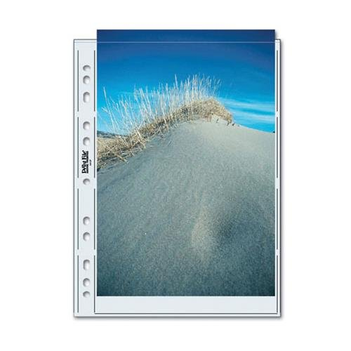 Print File Photo Pages Holds Two A4, (8-1/4x11-11/16''), Size Prints or Documents, Pack of 25 by Print File