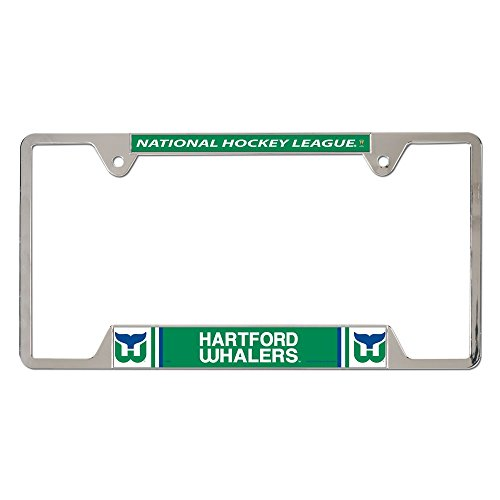 NHL Vintage Hartford Whalers Metal License Plate Frame