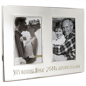 25th Wedding Anniversary Then Now Photo Frame Amazoncouk Toys