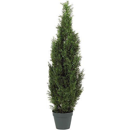 Nearly Natural 5172 Cedar Silk Tree, 4-Feet, Green