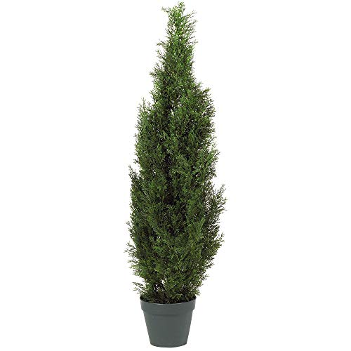 Nearly Natural 5172 4ft. Cedar Tree Silk Tree (Indoor/Outdoor) (4' Olive)