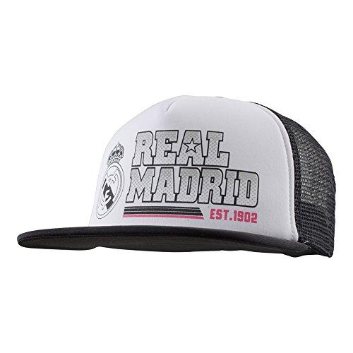 Real Madrid Adjustable Cap Hat Trucker New Season (White (New Jersey Trucker Hat)