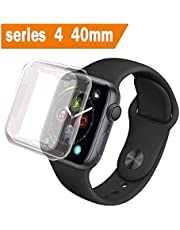 ALOUCH Case for Apple Watch Series 6 5 4 SE Screen Protector 40mm, iWatch Overall Protective Case TPU Clear Ultra-Thin Cover, for Apple Watch Series 6 5 4 SE 40mm