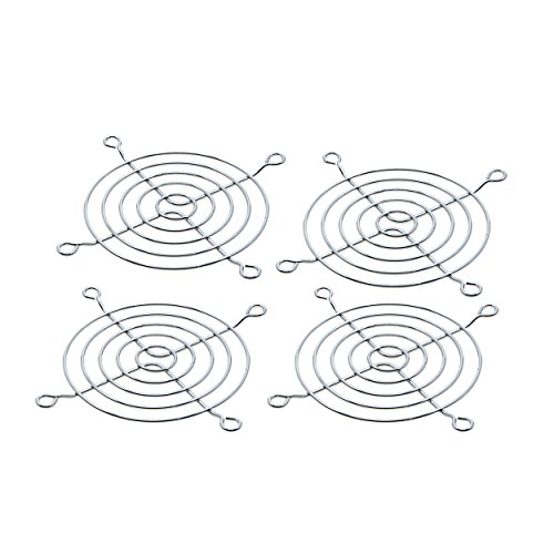 Saim 4 Pcs 80mm Metal Axial Cooling Fan Finger Guard Protective Grill for PC (Cooling Fan Guard)