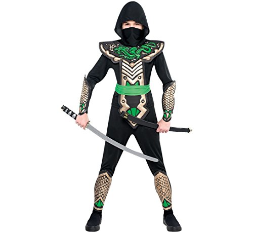 Amscan Ninja Dragon Halloween Costume for Boys, Large, with Included Accessories -