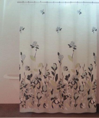 dkny baumwolle stoff vorhang fr die dusche bordre print watercolor fields periwinkle - Stoff Vorhang Dusche