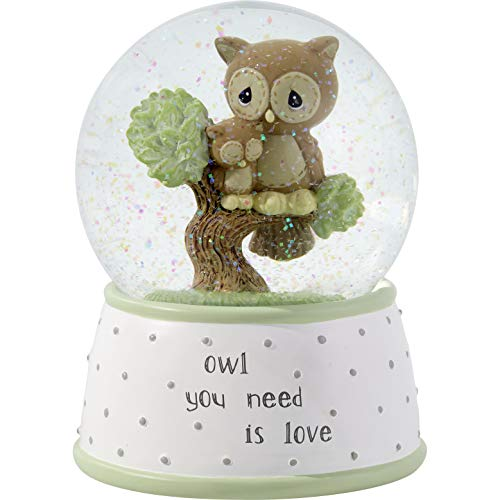 - Precious Moments Owl You Need is Love Musical Resin & Glass Snow Globe 183101 WATERBALL One Size Multi